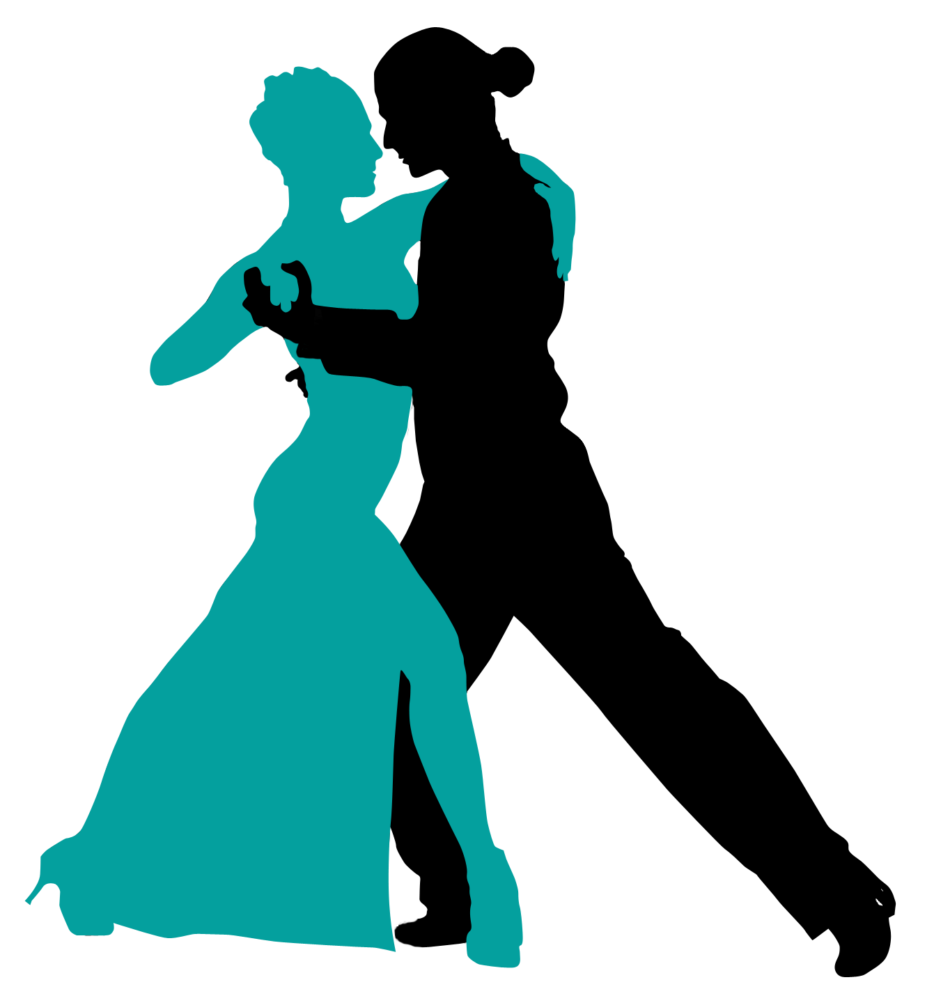 Tango dancer silhouette at. Dance clipart social dance