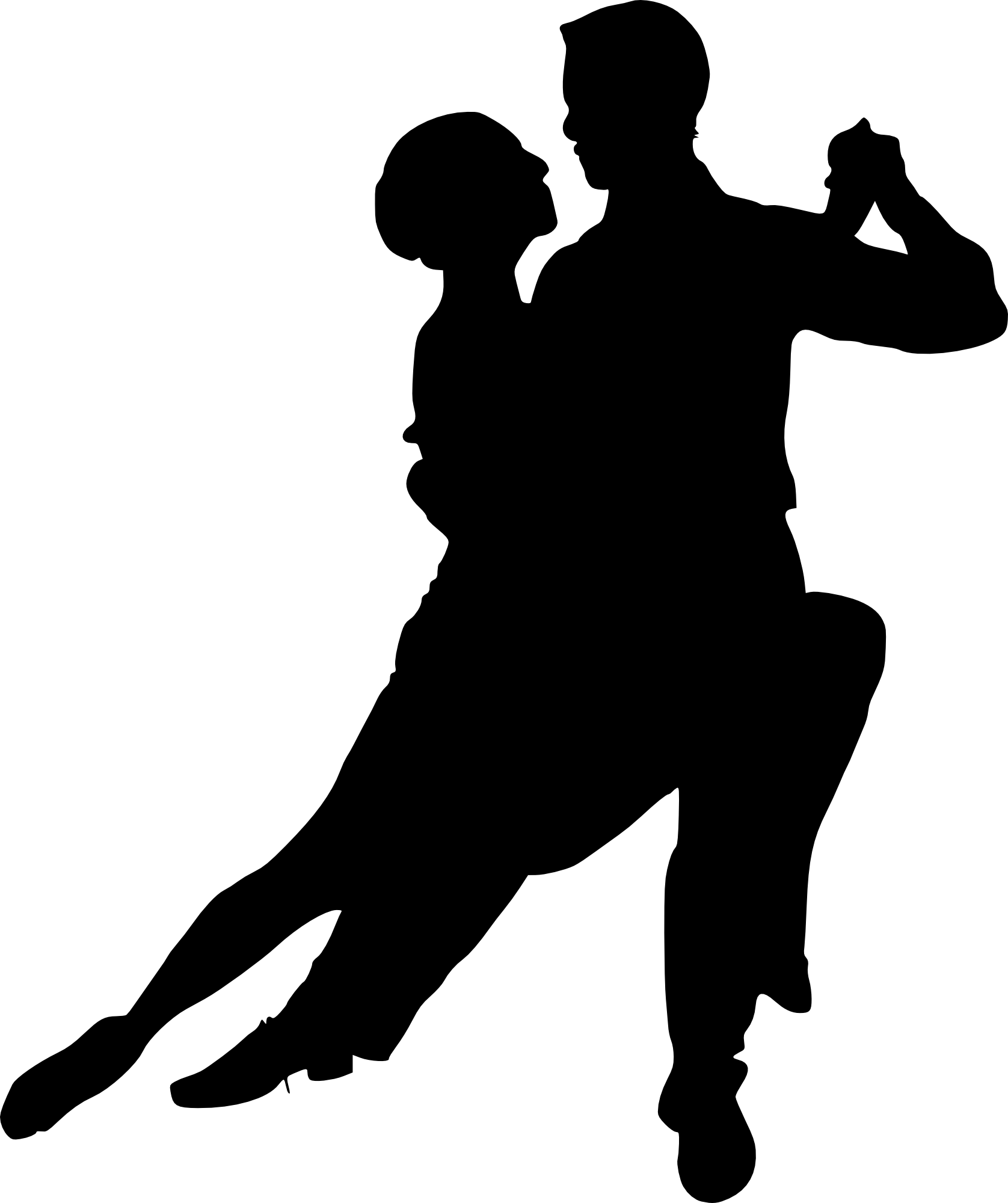 Silhouette dance at getdrawings. Waitress clipart mesero