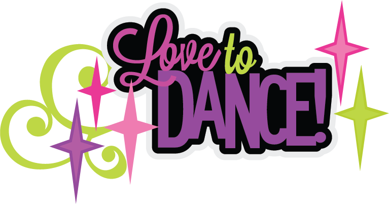 Love to svg scrapbook. Clipart letters dance