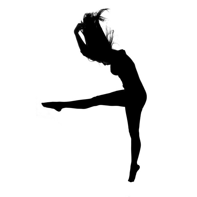 Clipart dance lyrical dance. Contemporary dancer silhouette at