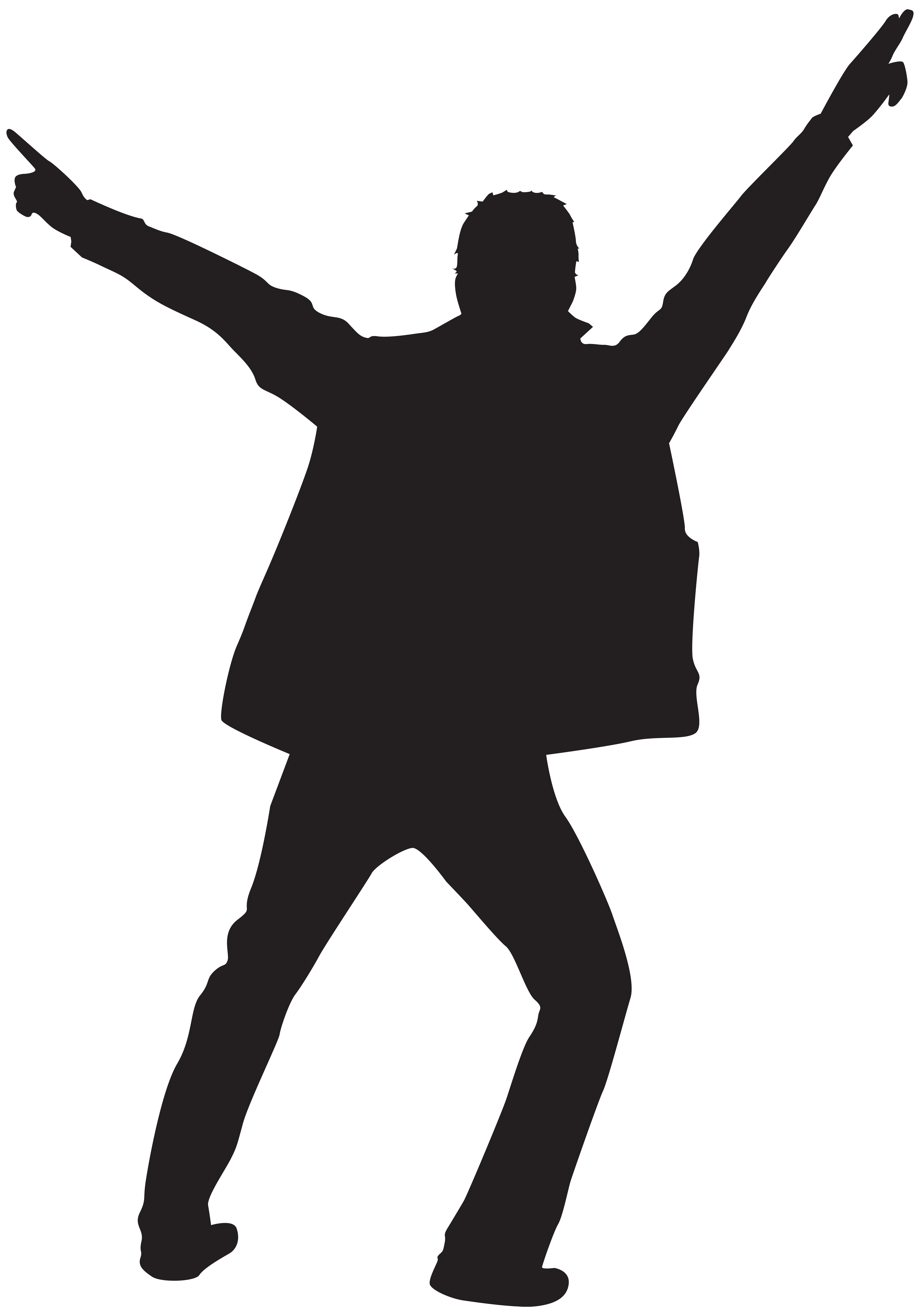 Dancing silhouette at getdrawings. Clipart man dancer