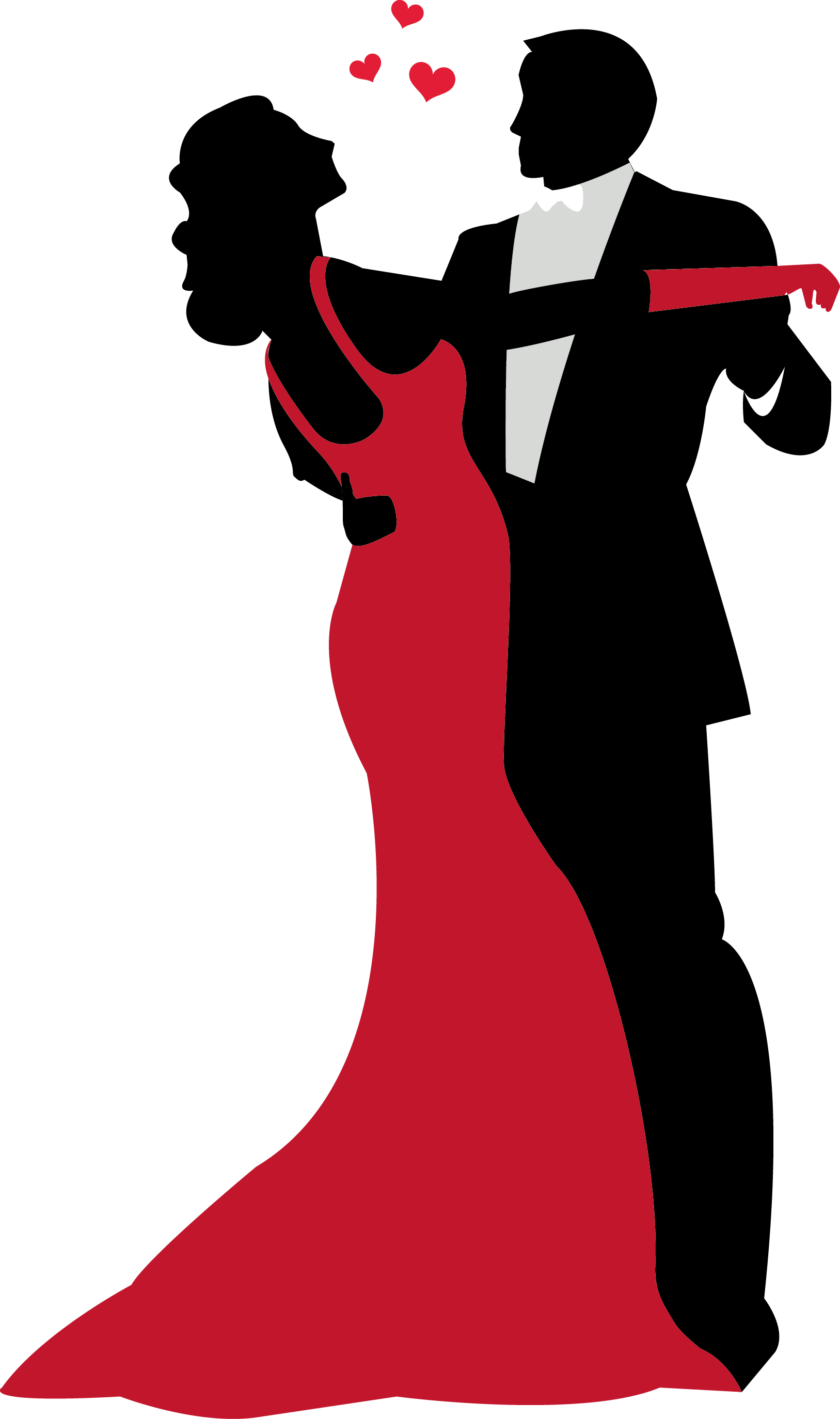 Silhouette dancing couple at. Dance clipart prom