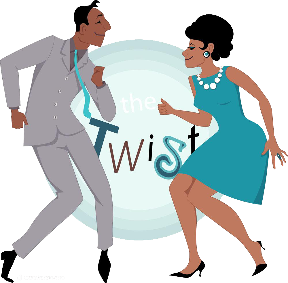 Dance clipart rock n roll. Twist royalty free clip
