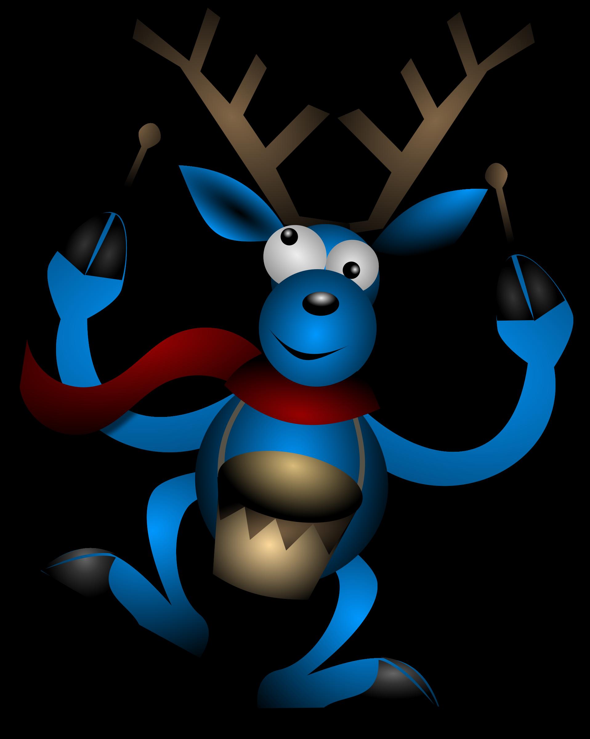 Dancing reindeer big image. Winter clipart dance