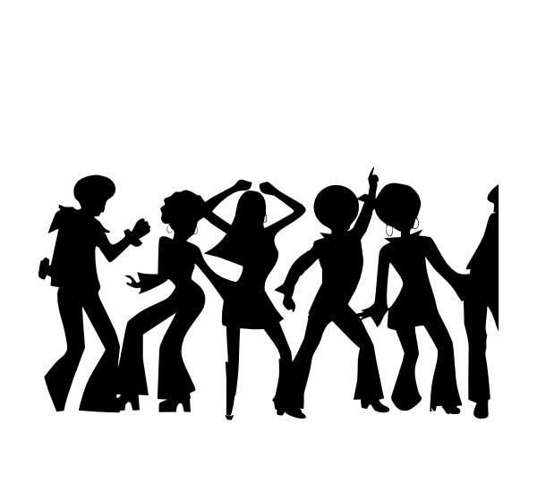 Person clipart shadow. Bw disco clip art
