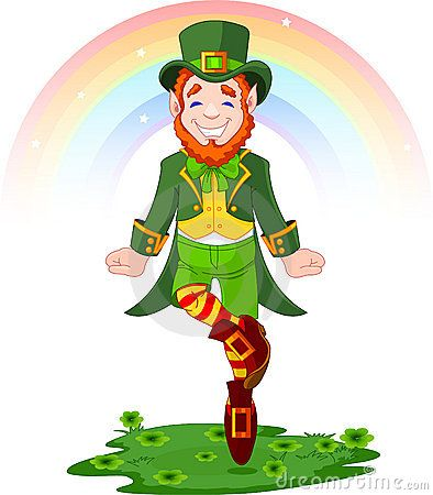 Dancing clipart st patrick's day. Dance with a leprechaun