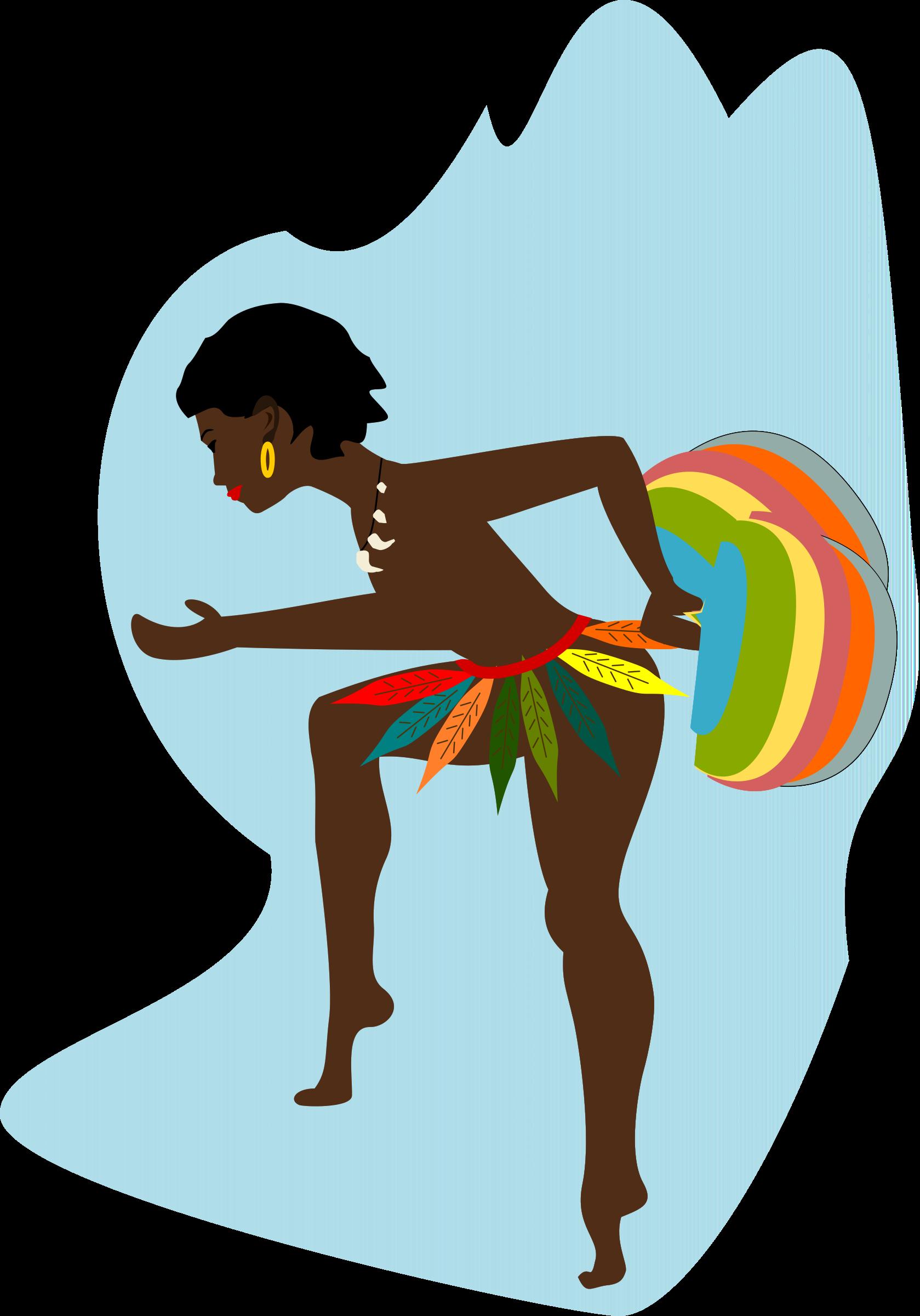 Dance clipart vector. African dancer big image