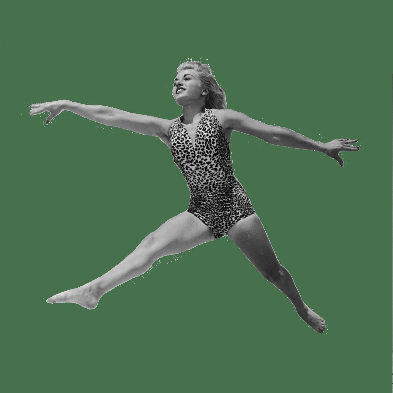 Dancer jumping transparent png. Clipart dance vintage