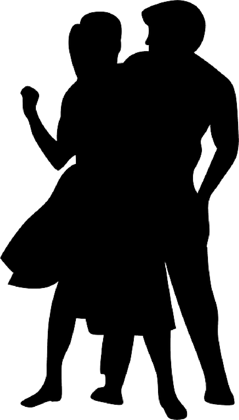 Dance music people silhouette. Clipart halloween disco