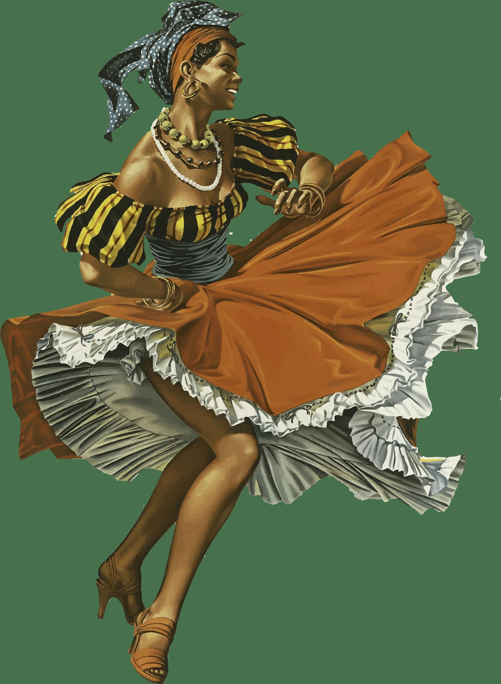 Dancer caribbean transparent png. Clipart dance vintage