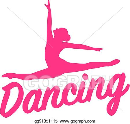 Eps vector silhouette with. Dancing clipart word