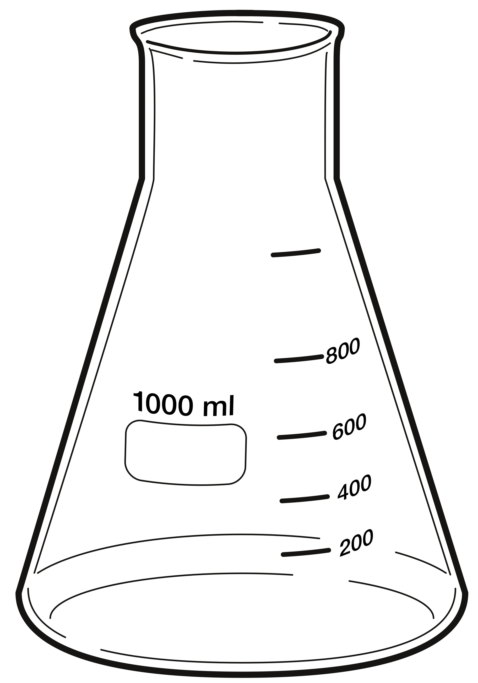 Erlenmeyer flask acur lunamedia. Clipart definition black and white