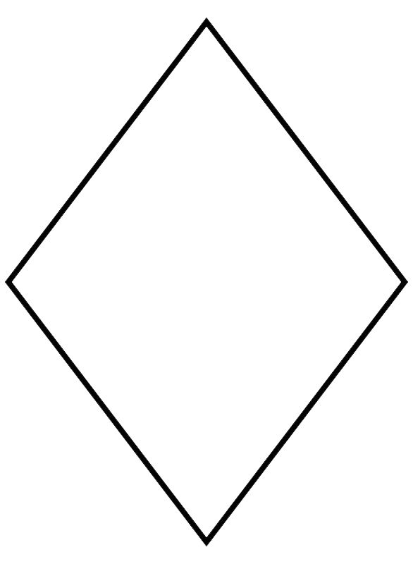 Rhombus shape diamond parallelogram. Clipart definition black and white