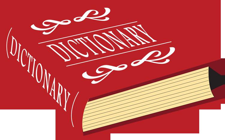 English literature composition lit. Dictionary clipart translation