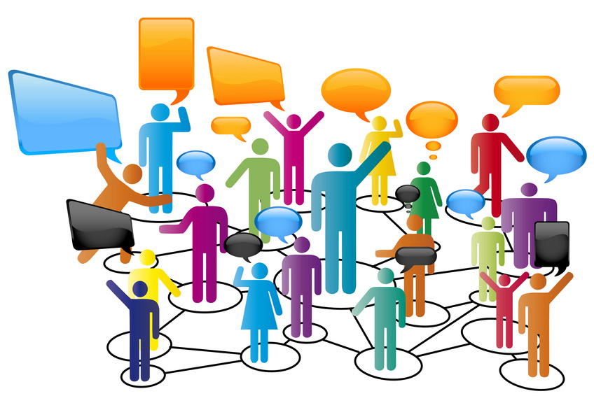 Newmediastudies image. Conversation clipart group chat