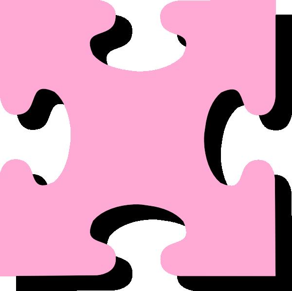 Pink jigsaw clip art. Puzzle clipart math puzzle