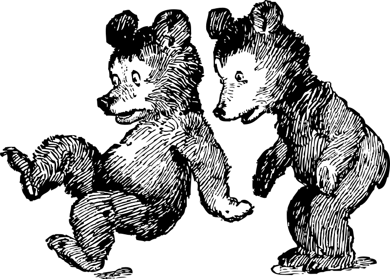 Startled bears medium image. Clipart definition figure