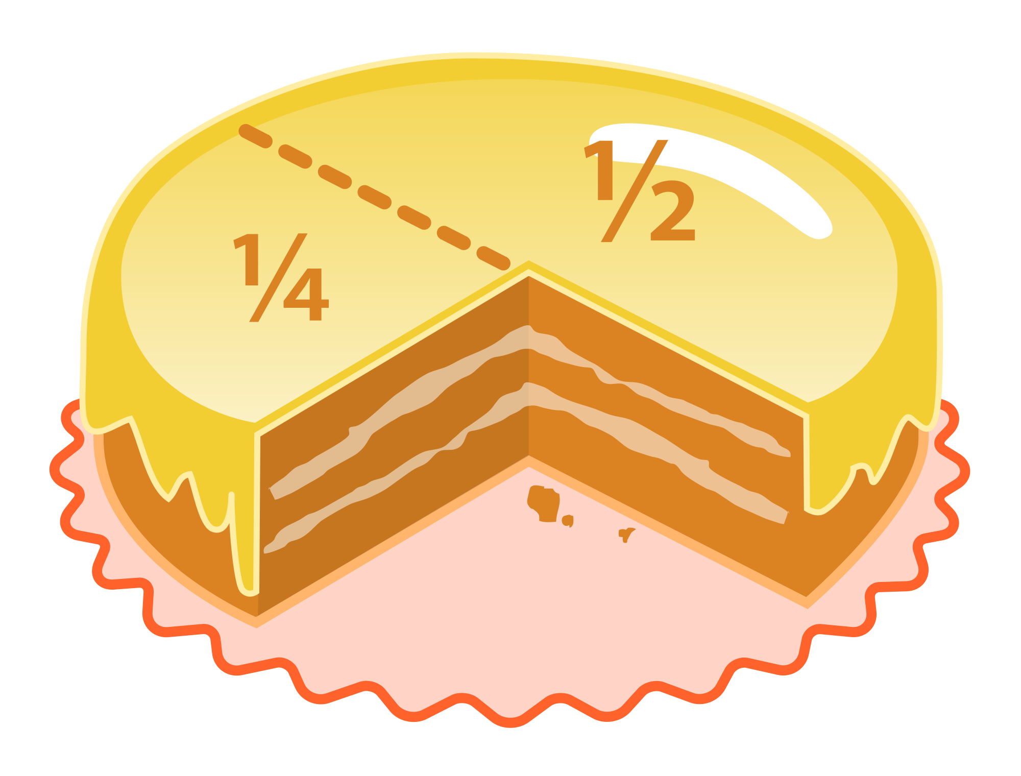 Fraction clipart cake. Glossary desktop backgrounds maths