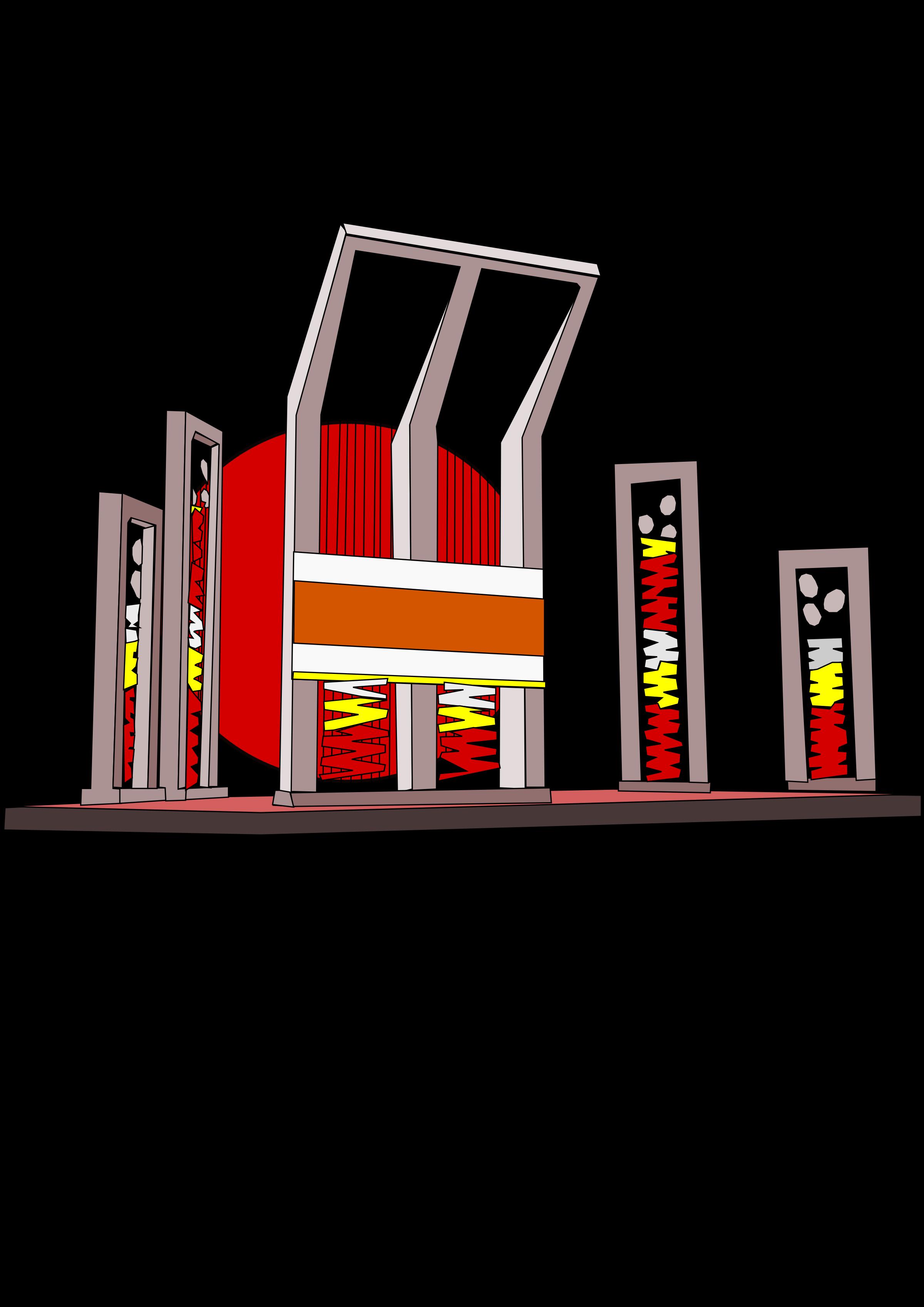 Shaheed minar big image. Dictionary clipart cartoon