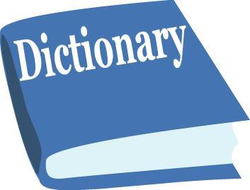 Dictionary clipart content.  clip art definition
