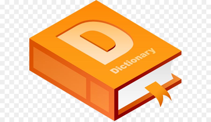 Dictionary clipart transparent background. Orange