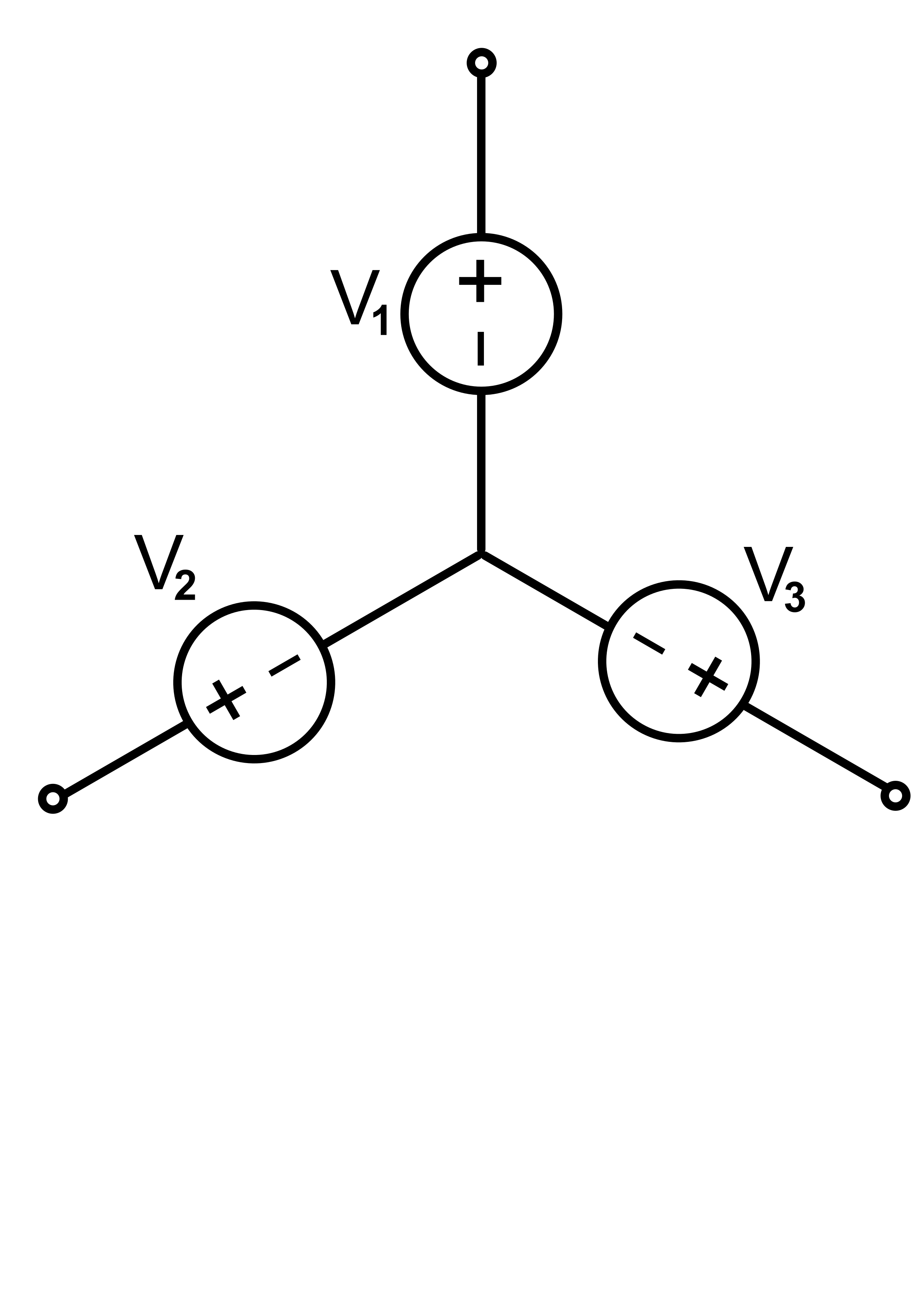 A three phase connected. Electric clipart power source