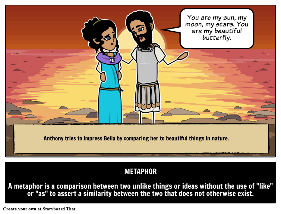 Define metaphor with storyboards. Clipart definition sentence