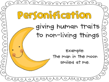 Personification and imagery anchor. Clipart definition sentence