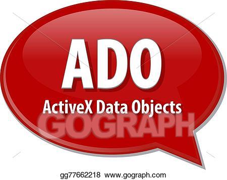 Stock illustration ado acronym. Clipart definition term