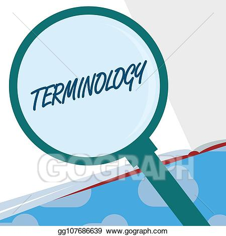 Clipart definition terminology. Stock illustrations text sign