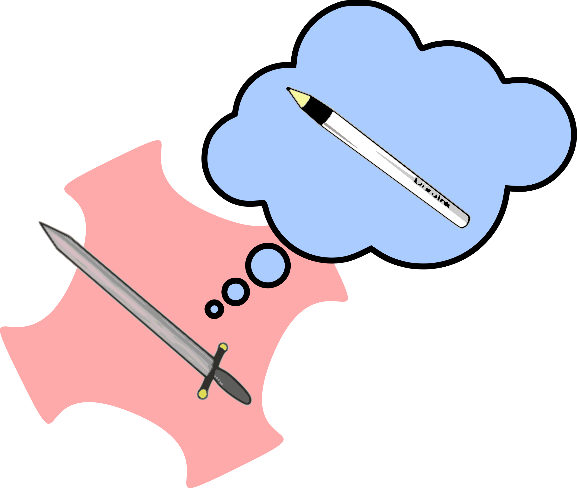 Clipart definition thought. Mighty pen big image