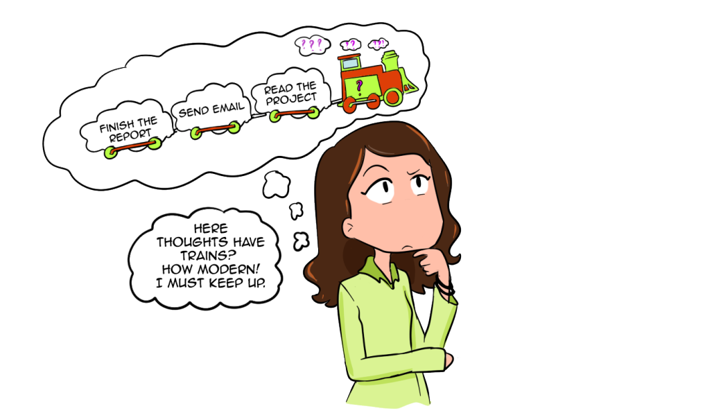 Clipart definition thought. Train of idiom the