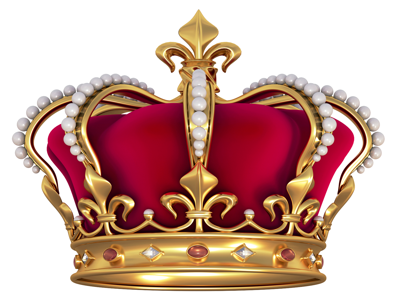 Red gold crown with. Clipart definition transparent