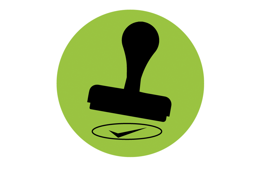 Stamp clipart symbol. Exact validation processing