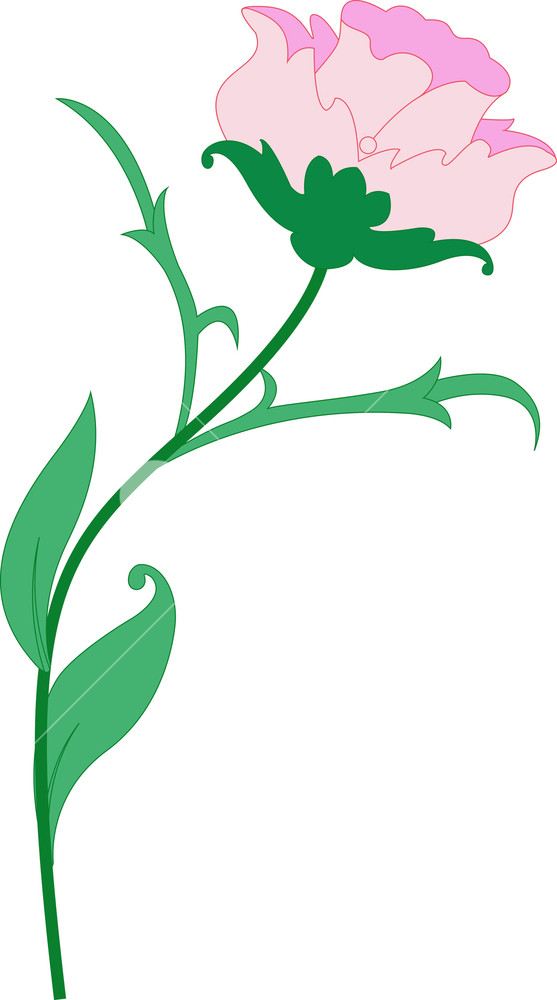Clipart design. Nature flower royalty free