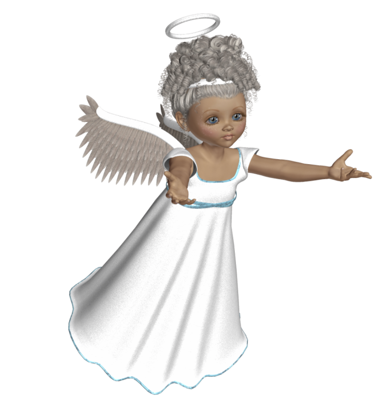 Cute d with white. Design clipart angel