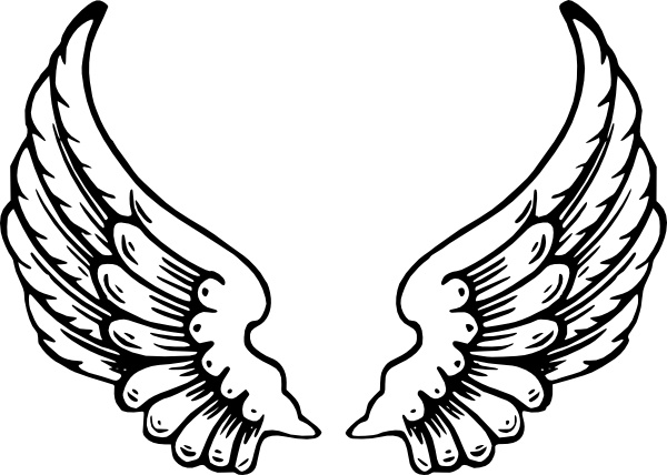 Wing clipart angel wing. Wings clip art free
