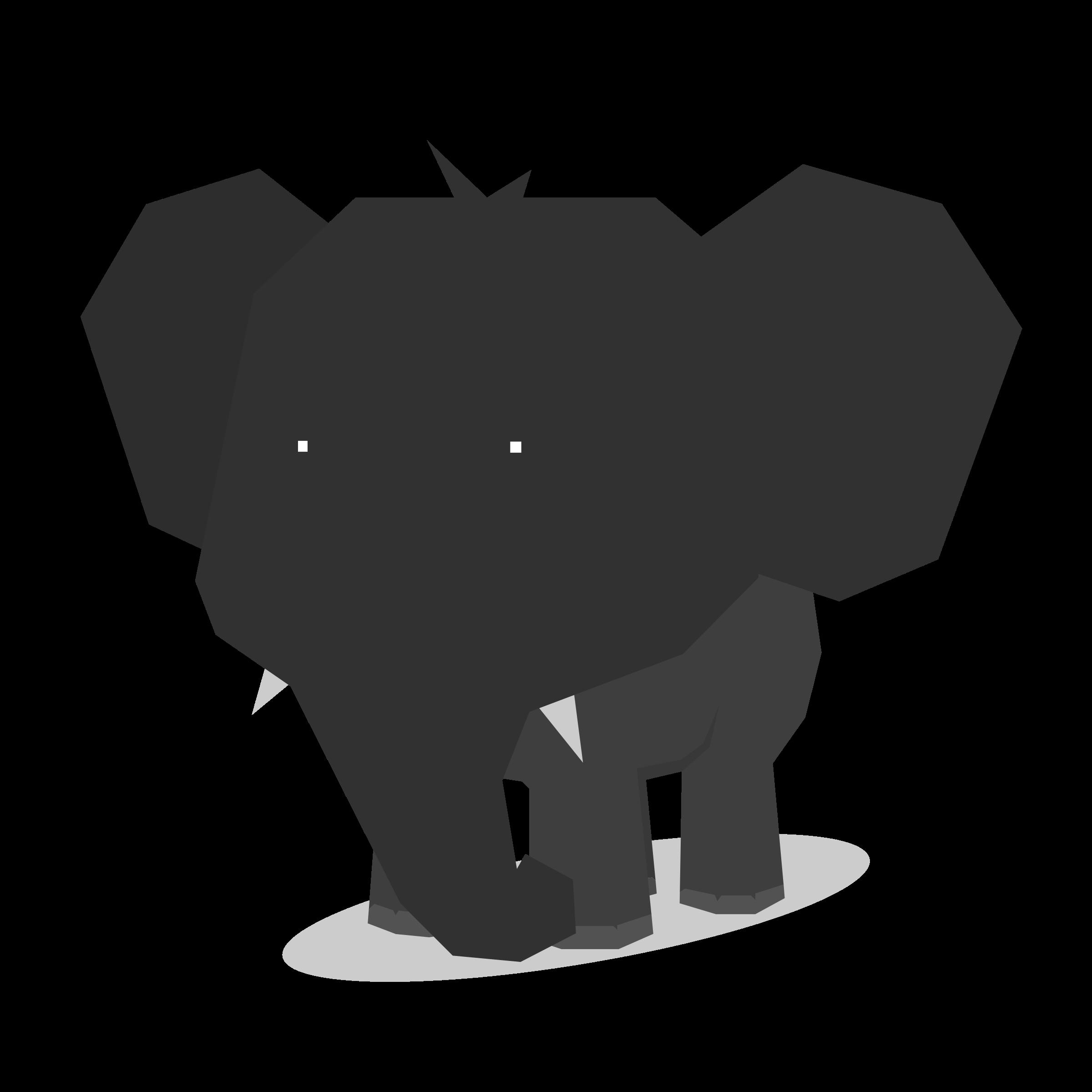 Tree clipart elephant. Minimal flat design animal