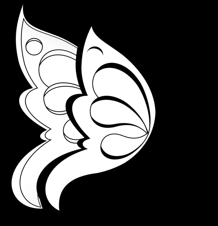Border design free download. Flower clipart black and white