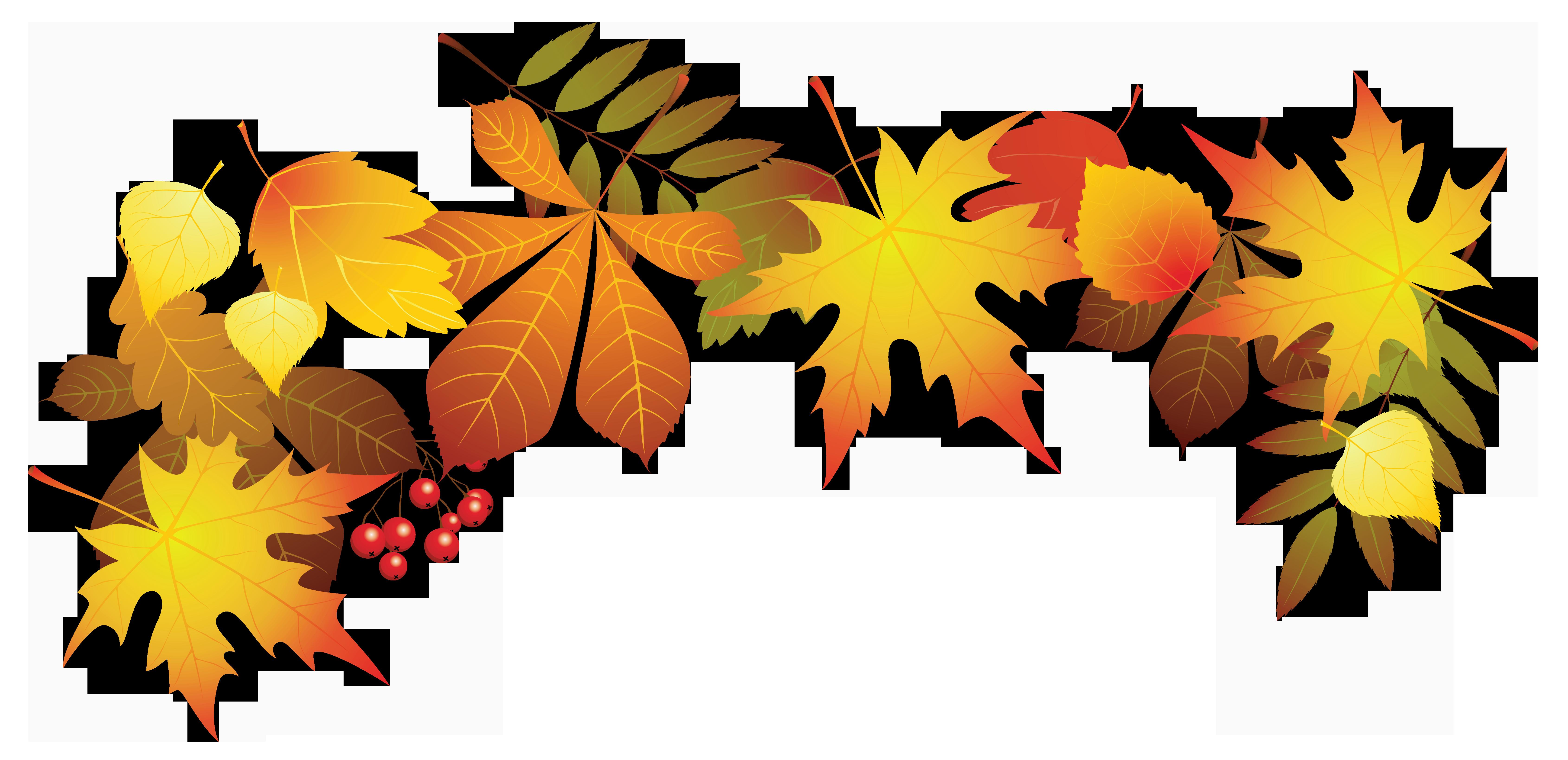 Transparent leaves decoration png. Scrapbook clipart autumn