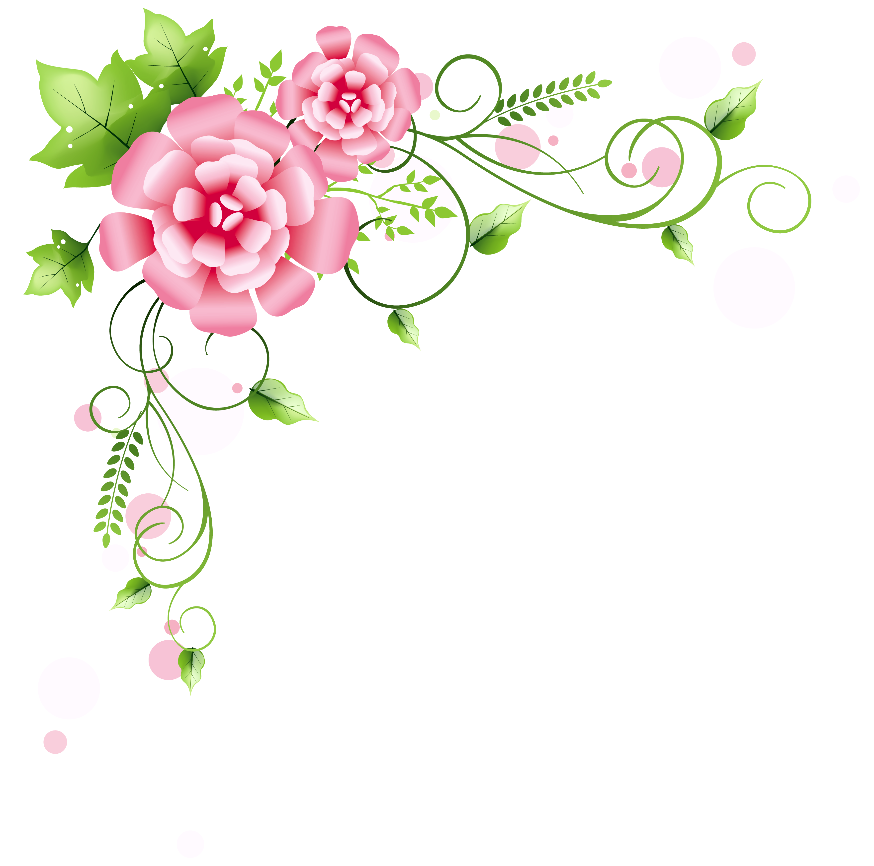 Floral decoration png picture. Water clipart corner