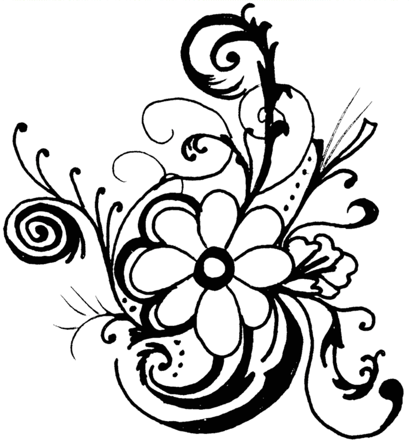 Free Page Border Designs Flowers Black And White, Download Free Clip Art,  Free Clip Art on Clipart Library