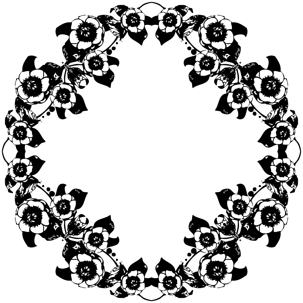Flower png black and white. Onlinelabels clip art vintage