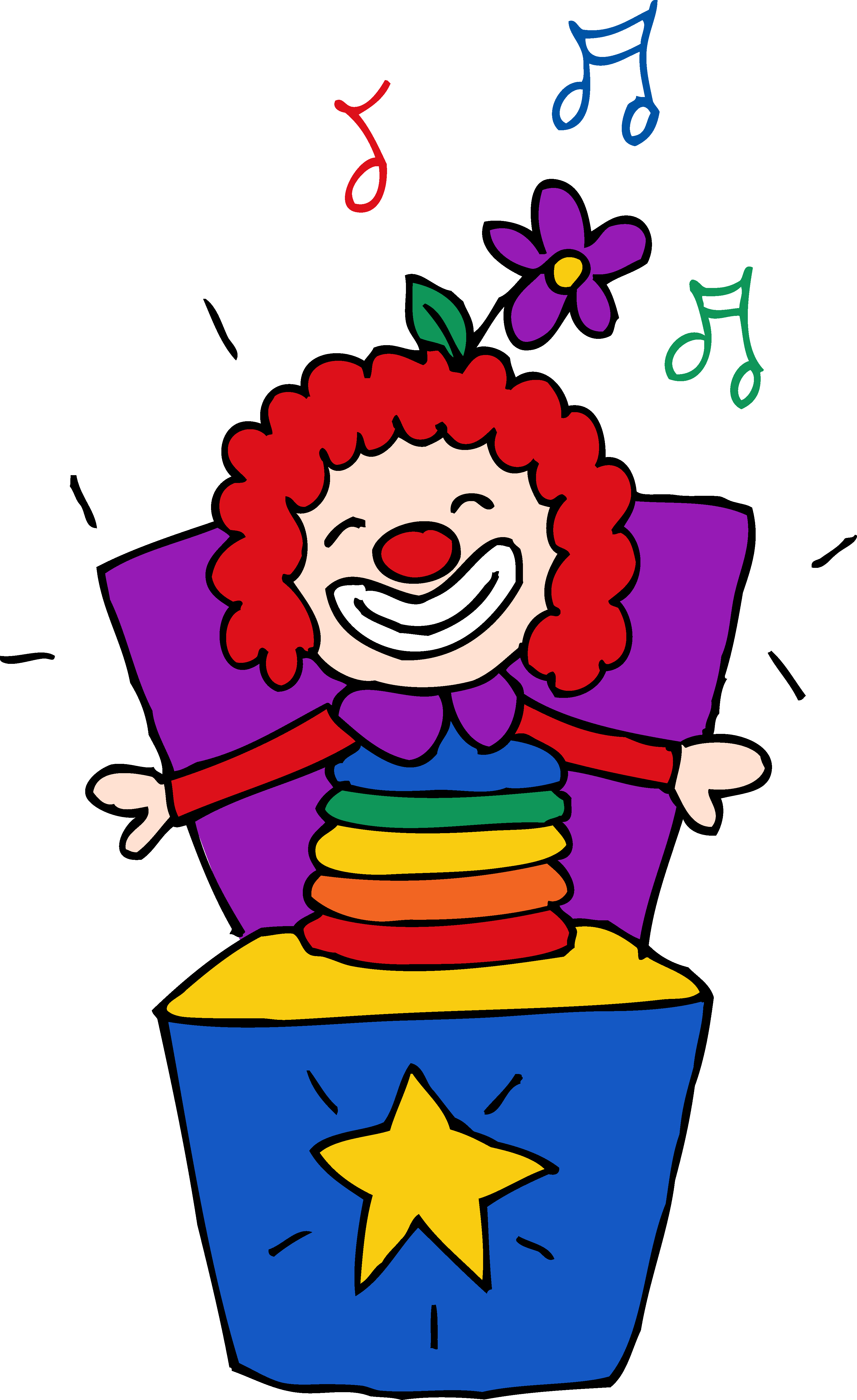 Design clipart box. Colorful jack in the