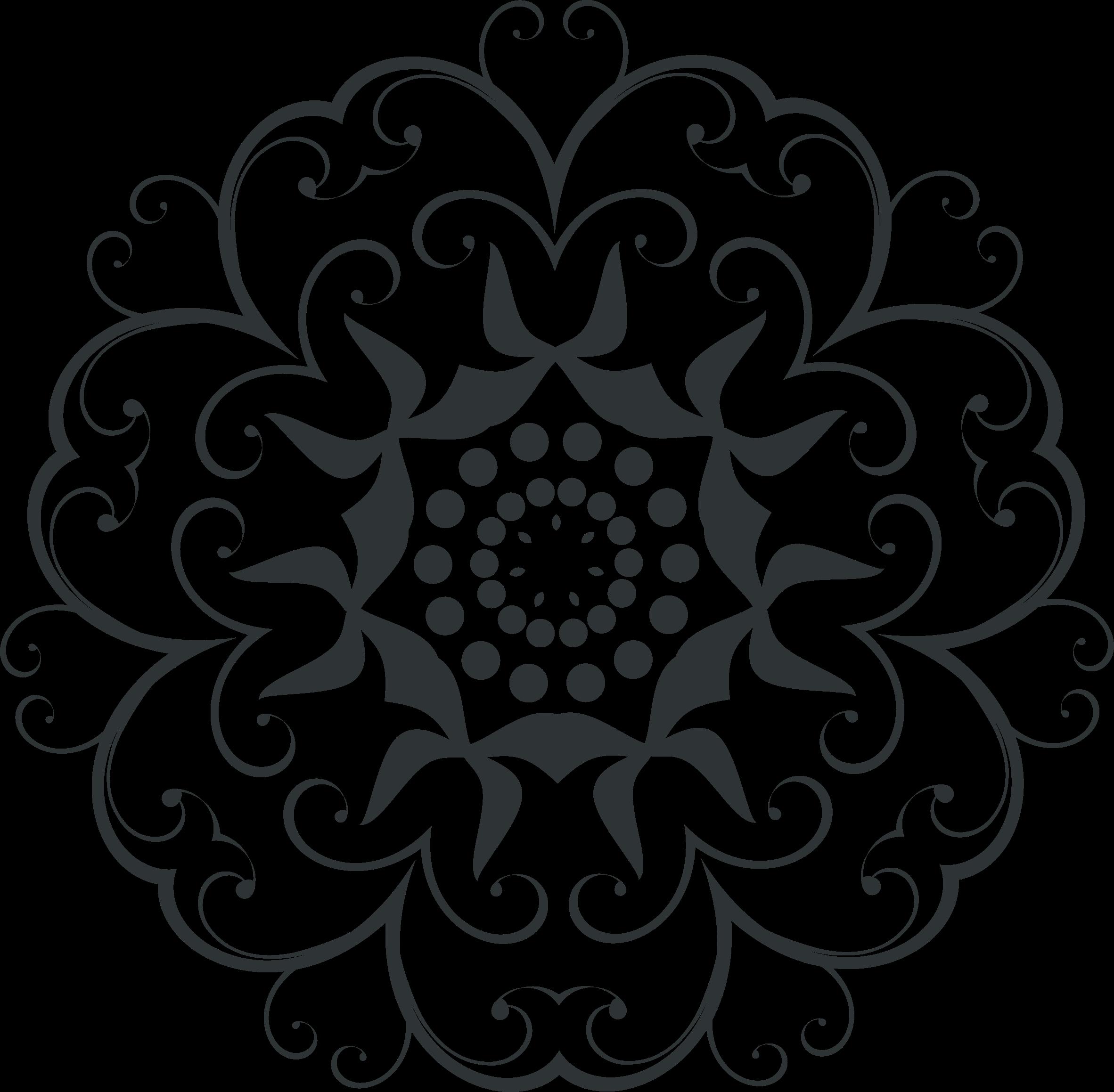 Flourish design big image. Lace clipart silhouette