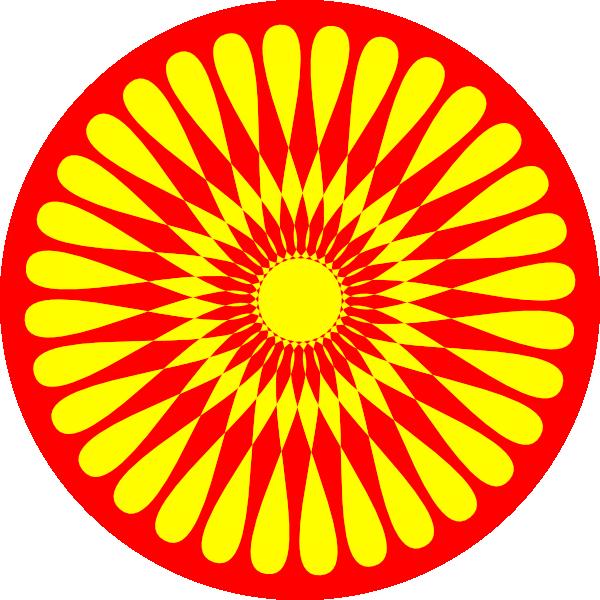 Flower design clip art. Flowers clipart circle