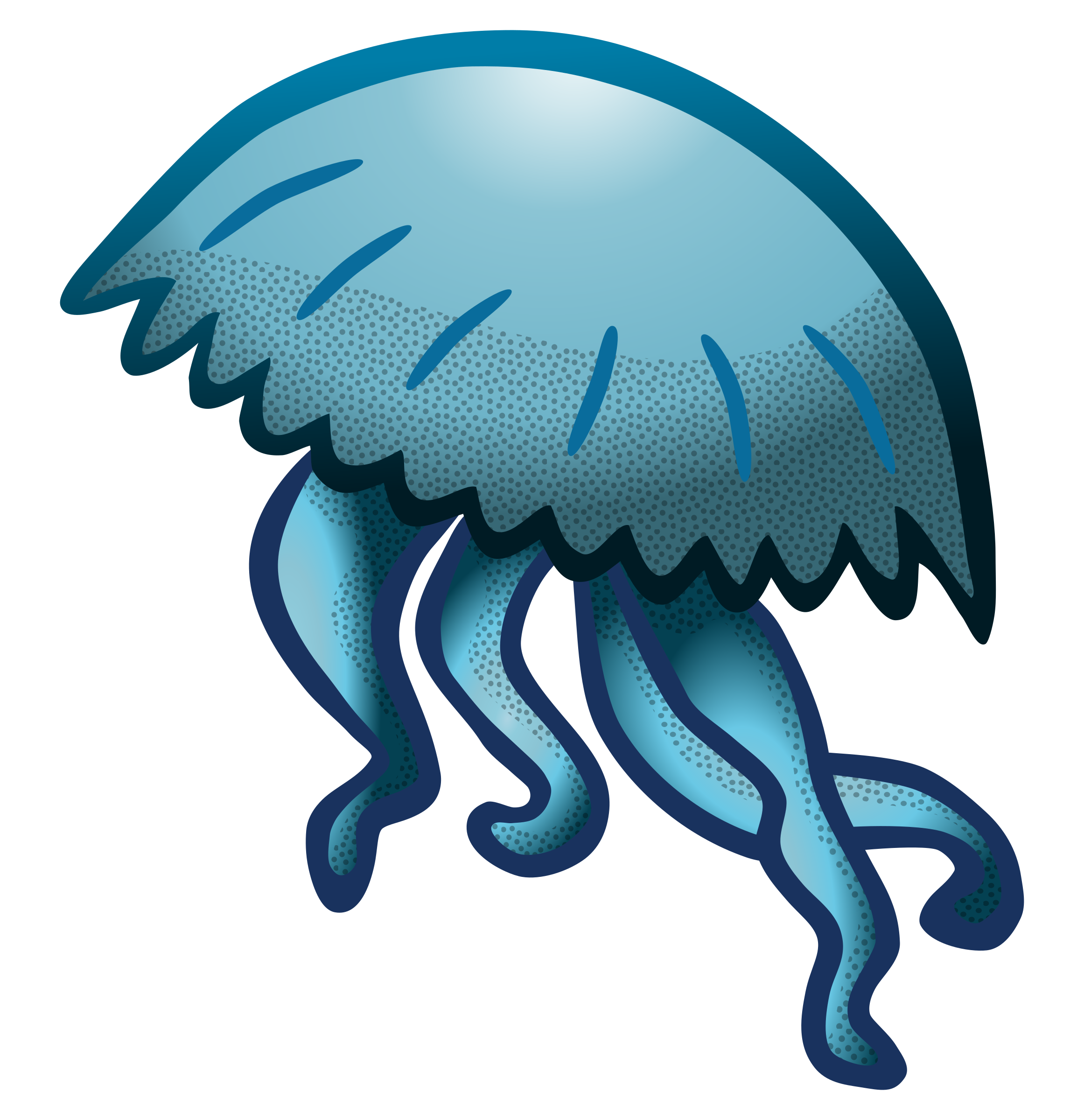 Dictionary clipart source. Jellyfish coloured big image