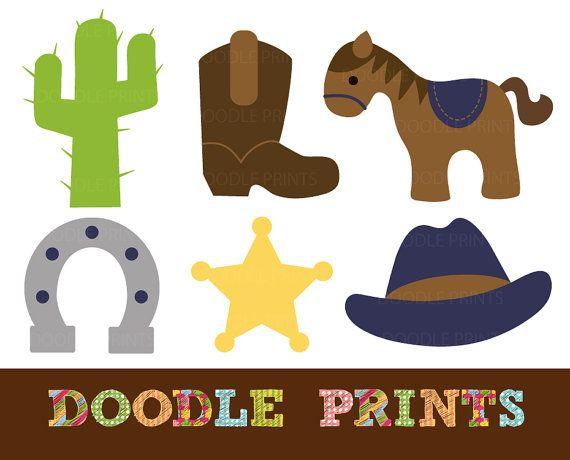 Digital clip art western. Cowboy clipart printable