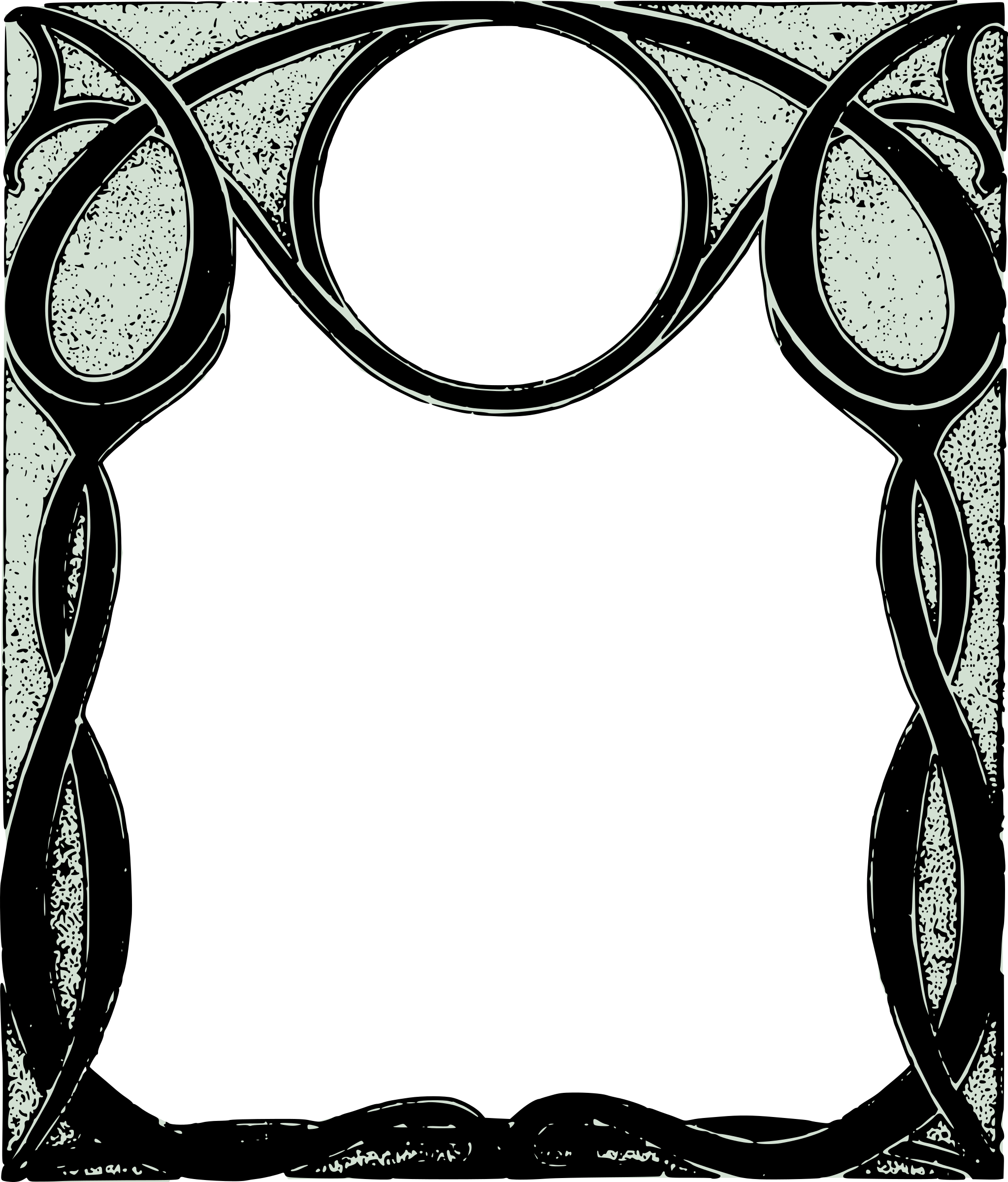 Gothic frame png. Clipart cool curly big