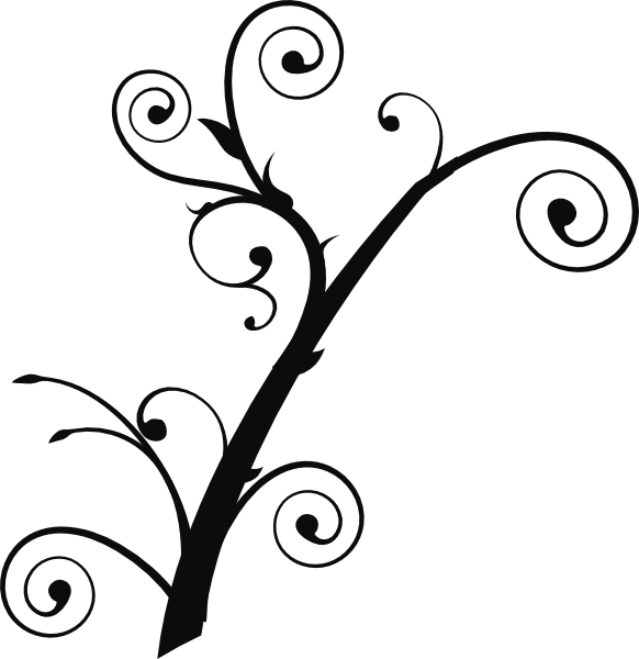 Clipart design curly. Tree clip art at